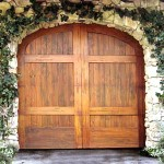 traditional cedar carriage garage door