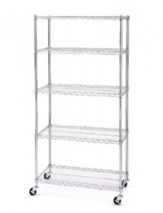 chrome bakers rack with wheels