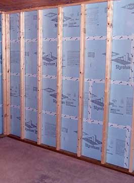 foam board insulation between studs